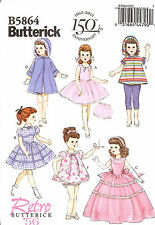 18 inch Doll clothes PATTERN toSEW hoodie capris dress Retro 56 Butterick 5864