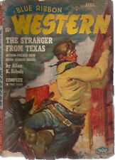BLUE RIBBON WESTERN pulp magazine April 1949