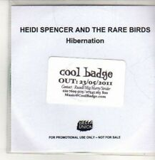 (CO124) Heidi Spencer And The Rare Birds, Hibernation - 2011 DJ CD