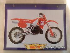 CARTE FICHE MOTO HONDA CR 500 R   1992