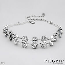 PILGRIM SKANDERBORG, DENMARK Choker With Genuine Crystal in Silver Base metal
