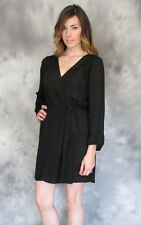 New JOIE POLLINI SILK DRESS Woman SZ Medium IN CAVIAR BLACK
