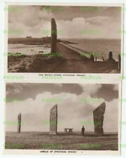OLD POSTCARDS STENNESS STANDING STONES ORKNEY SCOTLAND REAL PHOTOS VINTAGE C1950