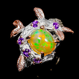 Opal Ring Silver 925 Sterling Top Quality 9x7 mm. Size 7 /R139511
