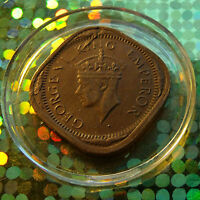 #1 British 1943-2 Annas Nickel-Brass 4-sided George VI India