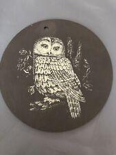 Slate Owl Plaque