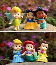 Free shipping New 6pcs/set Baby princess figure snow white series toys 4-5cm