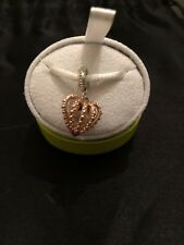 Genuine CHAMILIA 925 Silver & Rose Gold Plating CROWN JEWELS Charm