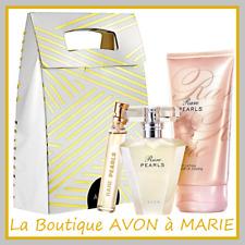 RARE PEARLS EAU de Parfum + lait + Flacon de Sac AVON : Coffret PRET A OFFRIR