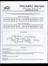 Copy Peavey Triumph 60/120 Ultra Gain Tube Guitar Amplifier Owner's Manual Guide