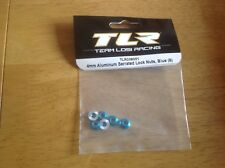 Losi 4mm Blue Aluminium Serrated Lock Nuts (6) - TLR336001