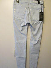 $88 Rock and Republic Kashmere Baby Blue Slim Skinny Leg Soft Feel Size 8 M NWT