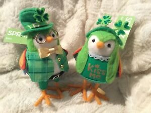 2020 Target Spritz St. Patrick's Day Birds. Laddie and Lucky. New With Tags.