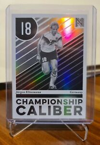 2017 Panini Nobility Championship Caliber Soccer Card Jurgen Klinsmann