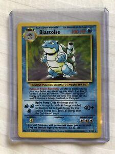 Holo BLASTOISE base set Pokemon Card 2/102 1999 RARE