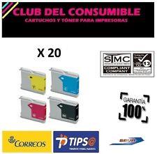 20 X CARTUCHOS COMPATIBLES BROTHER LC1000XL/970XL NON-OEM DCP 130C DCP 135C