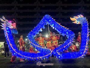 Spring New Design 18m Led lights CHINESE DRAGON DANCE ORIGINAL Festival Costume