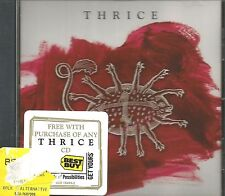 THRICE Ultra rare 2006 CD/ w 3 LIVE Tracks LIMITED USA PROMO CD Single SEALED