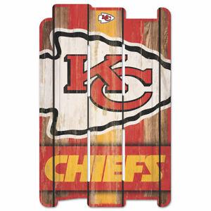 Kansas City Chiefs Defense Wooden Sign 43 CM NFL Football Fence Sign