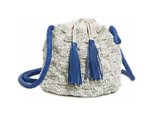 Sophie Anderson Bag. Portia Bucket Bag Grey Woven Leather  RRP £270 BNWT