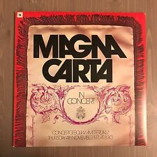 MAGNA CARTA In Concert 1972 UK vinyl LP EXCELLENT CONDITION Vertigo swirl