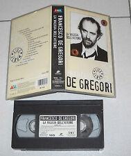 Vhs FRANCESCO DE GREGORI La valigia dell'attore Live Album OTTIMO1997