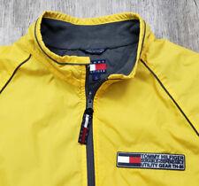 90s Vintage Tommy Hilfiger Yellow Windbreaker Jacket Utility Gear Womens Large