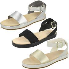 7ee78d7c46c Ladies Clarks  Botanic Ivy  Casual Leather Flat Sandals - D Fitting