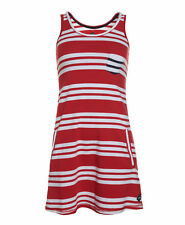 New Womens Superdry Factory Second New Ahoy Sailor Dress Rich Red Optic Stripe
