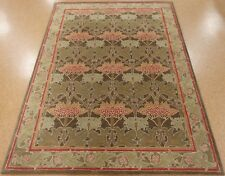 8' x 10' Pottery Barn Cecil Green Persian Style New Hand Tufted Wool Rug Carpet