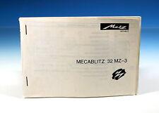 Metz mecablitz 32 mz-3 instrucciones de uso manual D/gb/e/I - (101470)