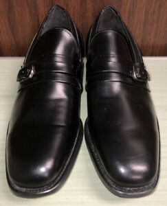 E.T. Wright Monk Strap Shoes Loafers Black Arch Preserver Men's 10.5 AA/B