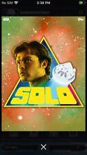 Topps Star Wars Digital Card Trader Orange Solo Prismatic Han Solo Insert Award