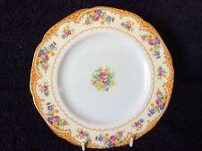 Vintage Art Deco Paragon Tea Plates x 10 Gold Floral