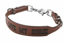 PONY Size Floral Tooled Leather Wither Strap with Scissor Snaps.