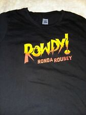 UFC MMA WWE WWF Ronda Rousey tee size Junior Girls Large fight