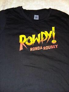 UFC MMA WWE WWF Ronda Rousey tee size Junior Girls Large fight