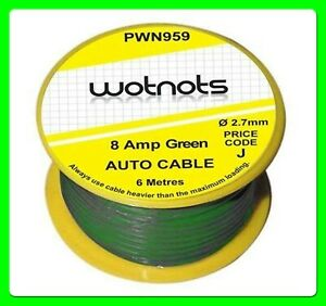 8 Amp Green Wiring Cable [PWN959]
