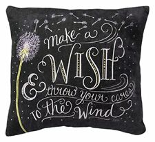 Make a WISH & throw your cares to the Wind Decorative Pillow Primitives By Kathy