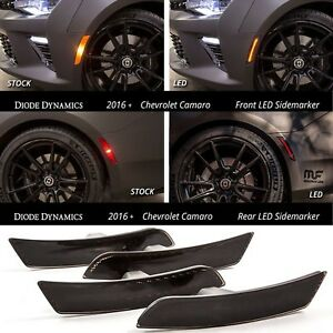 Diode Dynamics 2016-2017-2018 Chevrolet Camaro Red Amber LED Sidemarkers Smoked