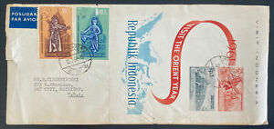 1961 Djakarta Indonesia First Day Cover FDC To Bay City MI USA Orient year
