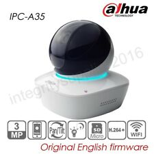 Dahua 3MP WIFI PT P2P IP Camera Bit-in Mic Speaker IR H264 SD slot Baby IPC-A35P