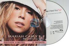 Mariah Carey Boy CD SINGLE édition limitée card sleeve france french pressing