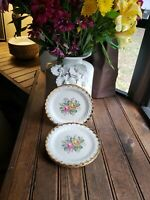 Four (4) Royal China Quban Royal Handled Salad Dessert? Plate 22K Gold 6 1/4""