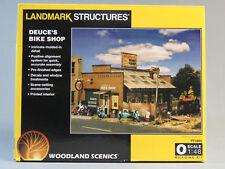 WOODLAND SCENICS DEUCE'S BIKE SHOP KIT O GAUGE train building town WDS 5895 NEW