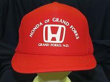 trucker hat baseball cap HONDA OF GRAND FORKS cars rare retro vintage cool style