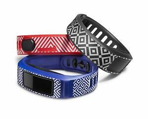 Jonathan Adler+Garmin Vivofit 2 Three Pack Small Replacement Bands BLUE GREY RED