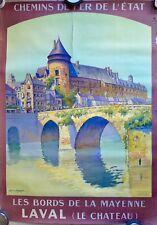 Affiche ancienne Lithographique c 1925 Château de LAVAL Mayenne par A Melcher