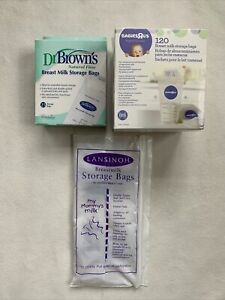 Breast Milk Storage Bags LOT OF 160 Babies R Us Dr. Browns Lansinoh NEW