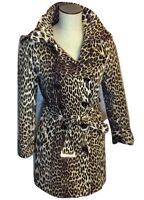 Elie Tahari Couture Double Breasted Leopard Print Coat Size 8 EUC